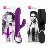 LoversPremium - Venus & Vulcan Couples Set Purple & Black